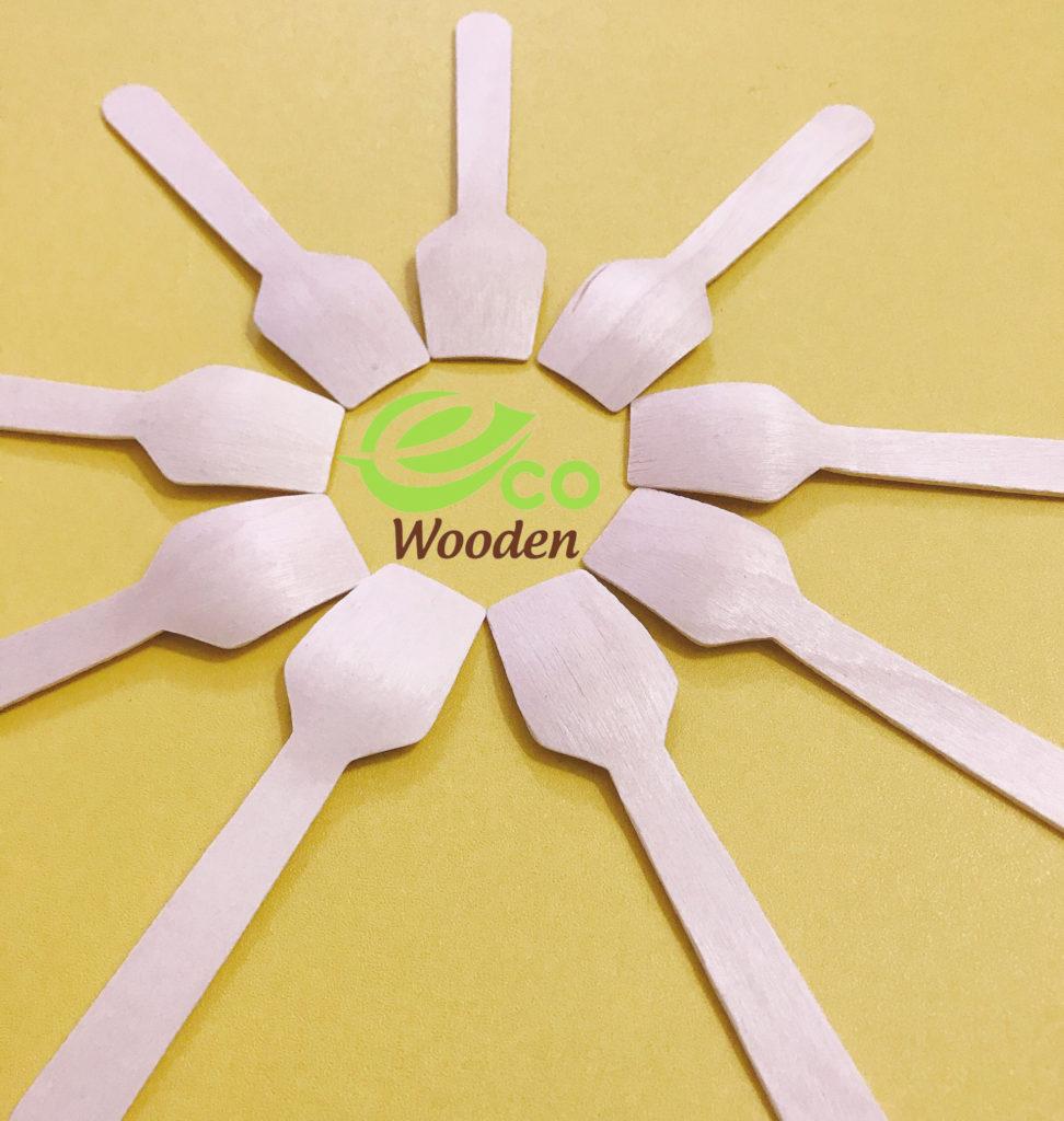 Thìa (Muỗng) Gỗ 9.5cm | Spoon Wooden
