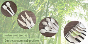 Eco Wooden Dao thìa dĩa gỗ dùng một lần 0866966336